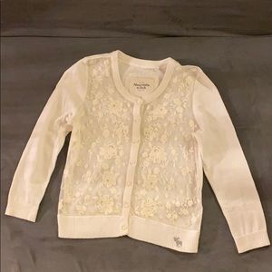 Abercrombie & Fitch Flower Embroidered Cardigan